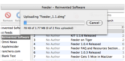 Feeder Publishing Progress Bar