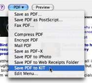 KIT 1.3 Save to PDF