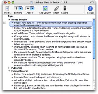 OmniOutliner Screenshot