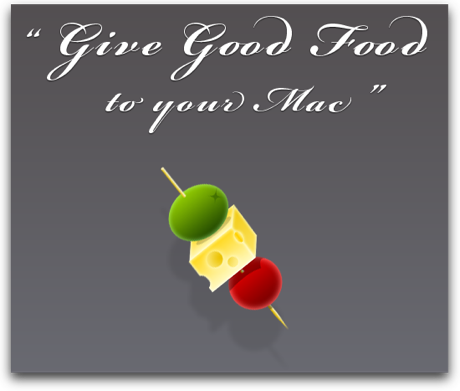 Give Good Food to your Mac logo