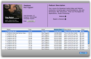 Feeder's iTunes Preview, Updated for iTunes 5
