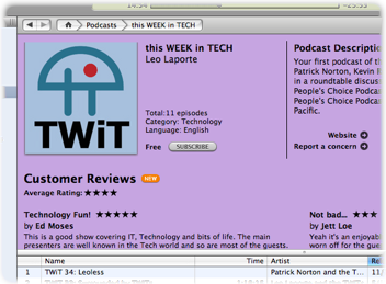 iTunes Ratings Screenshot