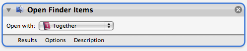 Open in Together Automator action