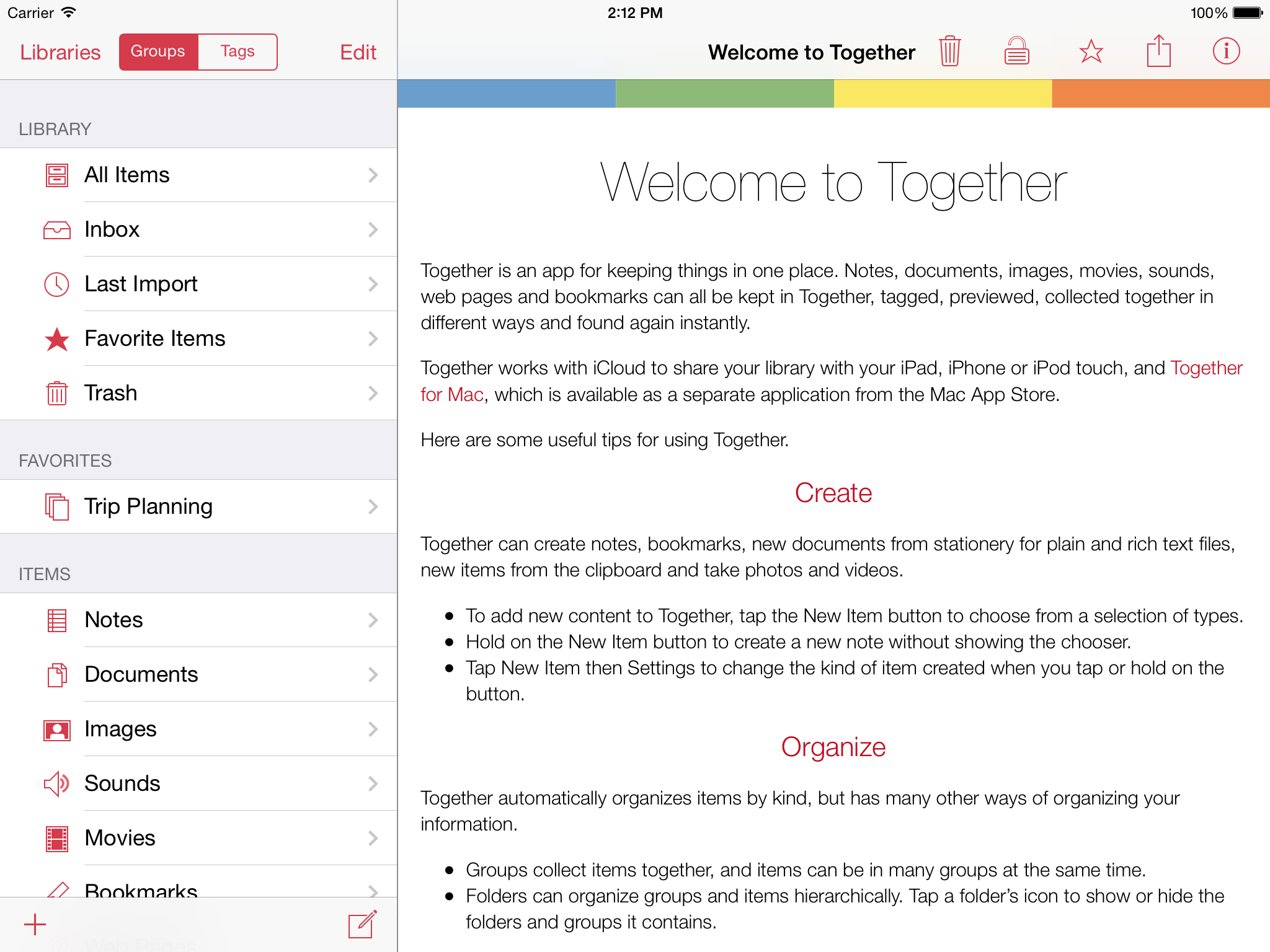 Together for iPad 1.0 screenshot