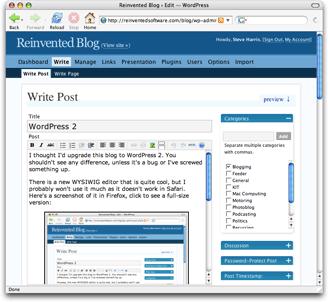 WordPress 2 Editor