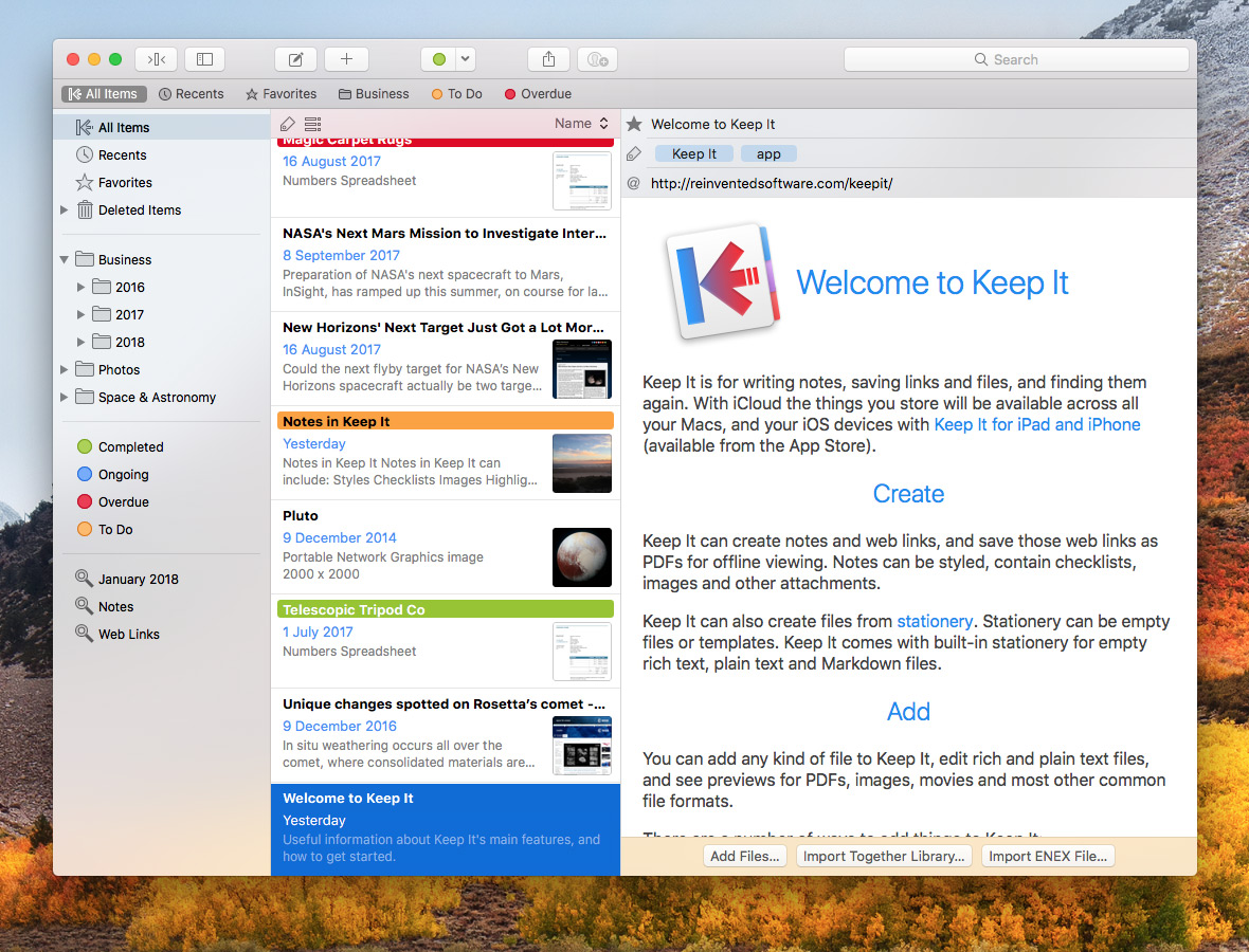 Keep It for Mac screenshot