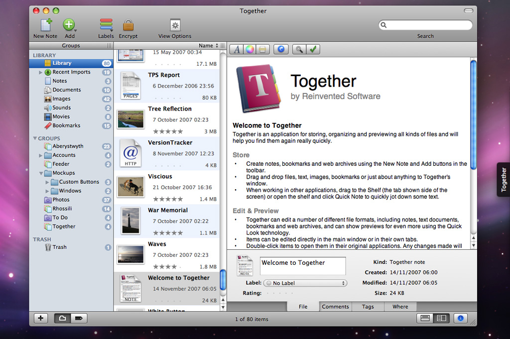 Together 2.0 screenshot