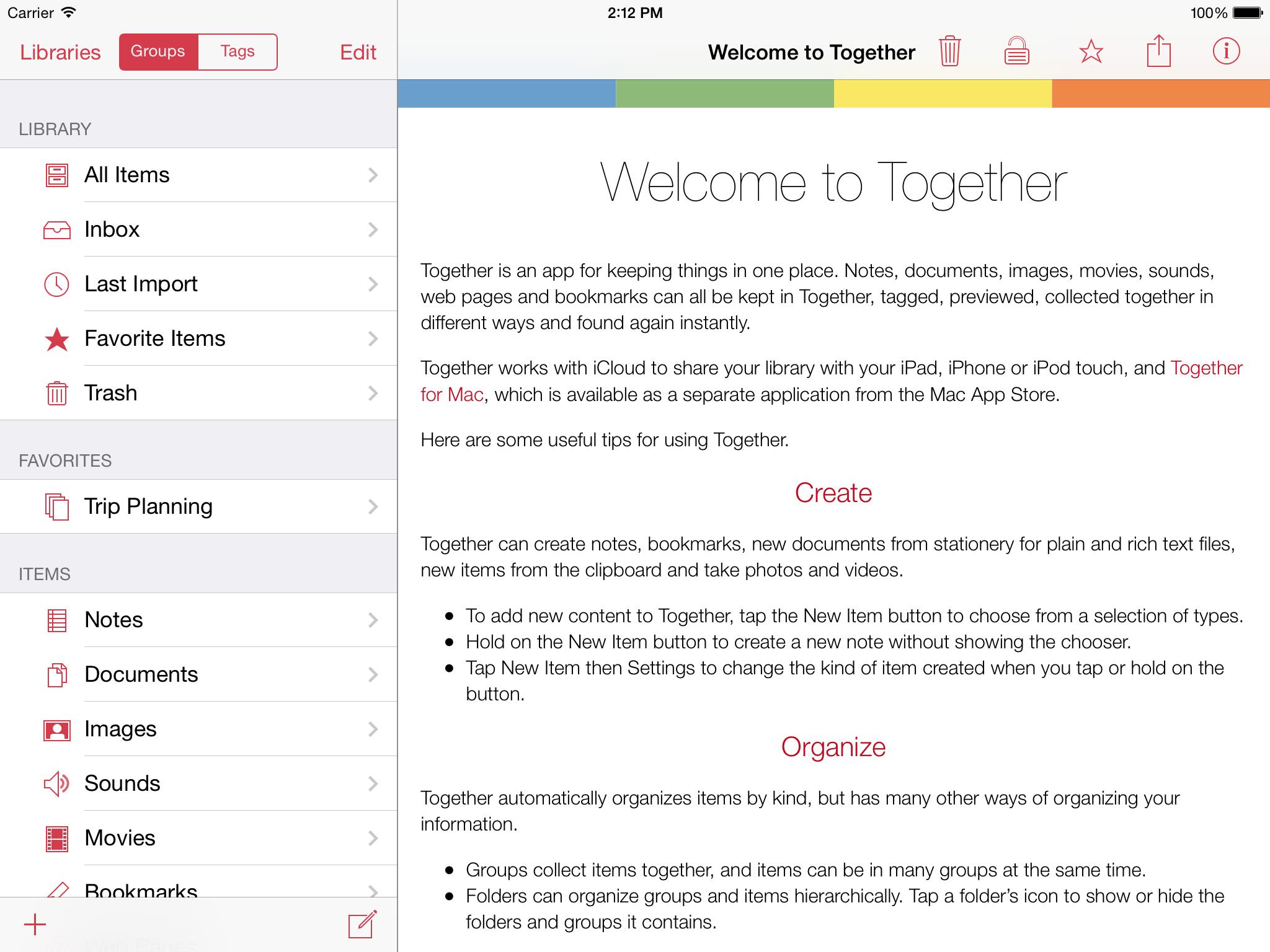 Together for iPad 1.0 screenshot