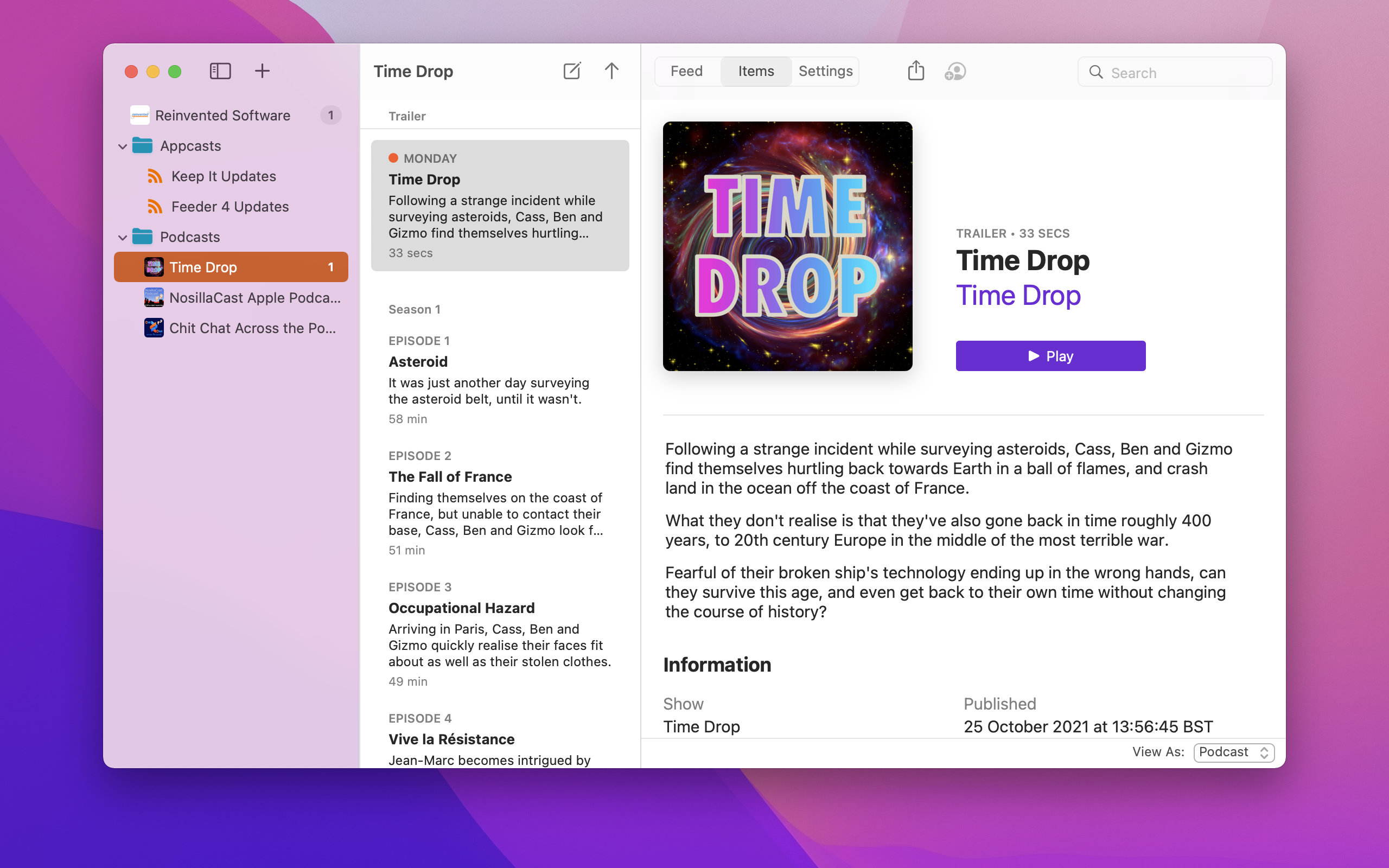 Feeder 4.0.6 Mac 破解版 创建和发布的RSS
